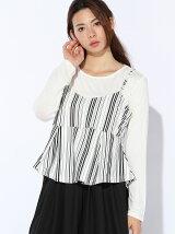 【2点SET】ポンチ裾広がりキャミ×ボートネック長袖Tシャツ