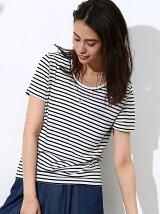 ラメ刺繍ロゴバックボリュームTシャツ