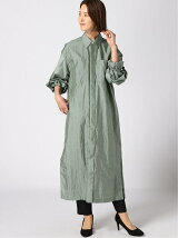 G.V.G.V./(W)CRINKLE NYLON COAT DRESS
