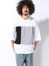 【BROWNY】(M)カラースイッチング7分袖Tシャツ