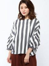 RAWFUDGE/袖ボリュームストライプシャツ