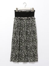 TAPESTRY FLOWER PLEATS SKIRT
