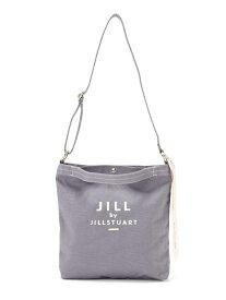 JILL by JILLSTUART ◇JJショルダートートバッグ(無地) ジル バイ ジルスチュアート バッグ バッグその他 グレー ホワイト【送料無料】