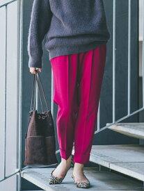 SHIPS WOMEN テーパードカラーパンツ シップス パンツ/ジーンズ ハーフパンツ ピンク グレー イエロー ネイビー【送料無料】