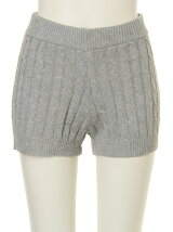 CABLE KNIT SHORT PANTS