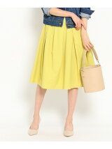◆ミモレ丈タックフレアスカート
