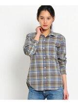 綿麻チェックシャツ
