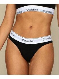 Calvin Klein 【カルバン クライン アンダーウェア】 レディース Tバック ショー カルバン・クライン インナー/ナイトウェア ショーツ ブラック グレー