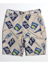BEN DAVIS/VINTAGE DESIGN ALLOVER SHORTS