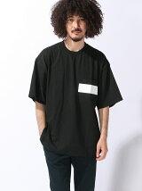 (M)ラインポケットビッグTシャツ