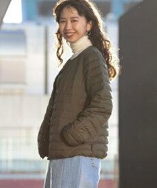 Demi-Luxe BEAMS Traditional Weatherwear / ARKLEY ショート ライトダウン デミルクス ビームス コート/ジャケット ダウンジャケット ベージュ ブラック【送料無料】