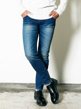 NO.62 SHAVING STRETCH DENIM ZIP PANTS