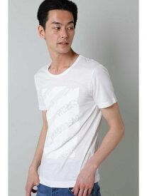 【SALE/50%OFF】TORNADO MART BLUE TORNADO∴ジオメトリックプリントTee トルネードマート カットソー Tシャツ ホワイト ブラック