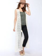LACE LONG GILLET
