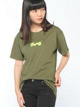 (L)ローズ刺繍Tシャツ