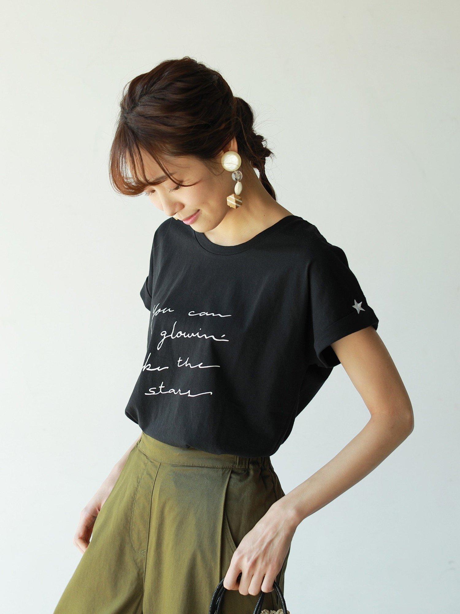 ドルマンスリーブポイント刺繍Tシャツ コーエン カットソー