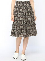 Techichi/スパンボイル幾何柄スカート
