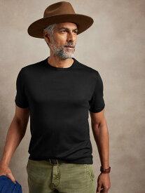【SALE/20%OFF】BANANA REPUBLIC (M)Luxury-Touch パフォーマンスtシャツ バナナ・リパブリック カットソー Tシャツ ブラック グレー ブルー ネイビー ホワイト ピンク