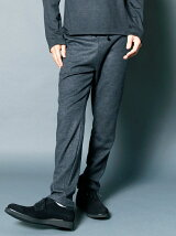 MILLED GRANDY WOOL TAPERED PANTS