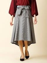 【秋の新作】《ef-de》フロントリボンフレアスカート