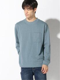 【SALE/24%OFF】GLOBAL WORK (M)USAコットンリブロンT グローバルワーク カットソー Tシャツ ブルー グリーン グレー ホワイト パープル