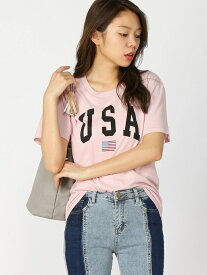 【SALE/50%OFF】BROWNY/(L)USAプリントTシャツ ウィゴー カットソー【RBA_S】【RBA_E】