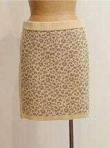 レオパードジャガードニットスカート