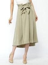 ウエストリボン付きスカート