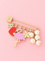 FLAMINGO PIN BROOCH