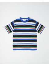 COTTON BORDER KNIT T-SHIRT