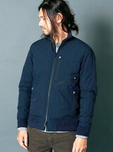 NYLON WEATHER THINSULATE ZIP FLIGHT JKT