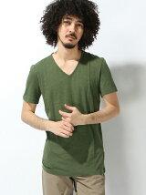 (M)スラブVネックTシャツ・カットソーUFF