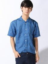 (M)フレンチリネンオープンカラーシャツ