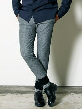 JAZZ  NEP HERRINGBONE TAPERED RIB PANTS