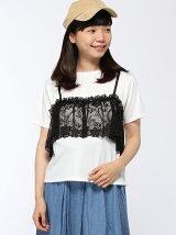 フェイクビスチェ付きTシャツ