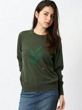 [W] Intarsia Olive Branch Knit