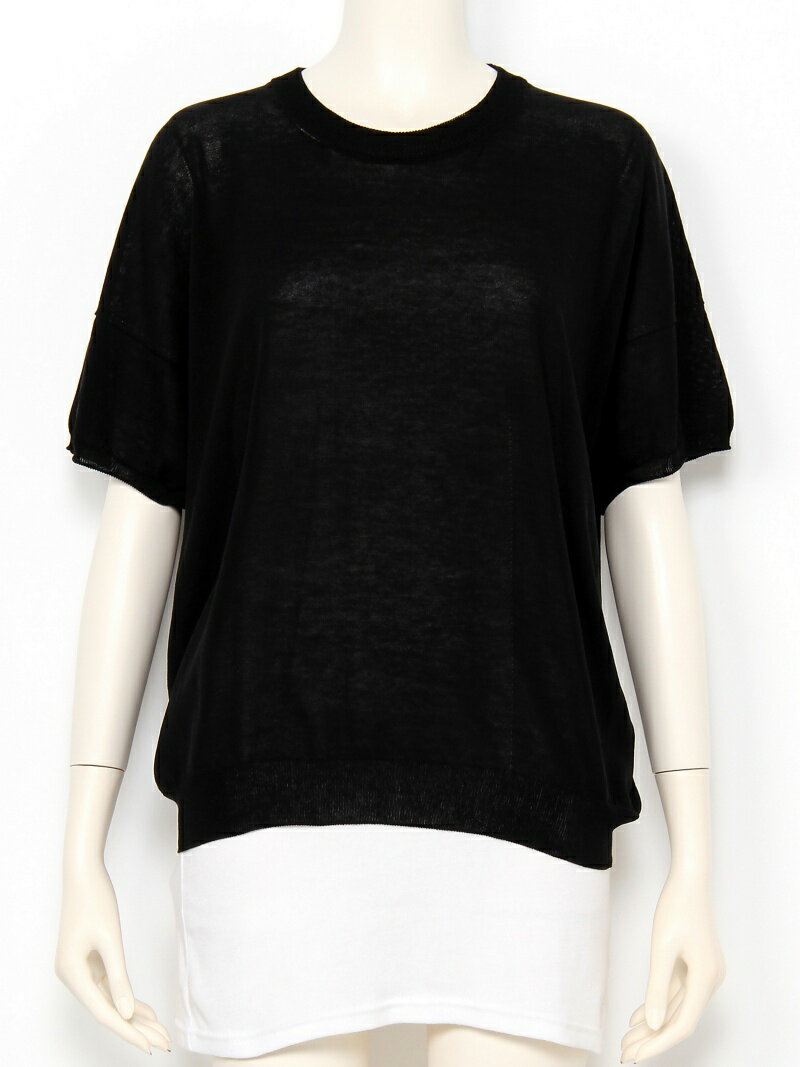 【SALE/45%OFF】iliann loeb Half sleeve pullover イリアンローヴ カットソー【RBA_S】【RBA_E】【送料無料】