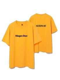 ADAM ET ROPE' Haagen-Dazs meets ADAM ET ROPE'<T-shirt> アダムエロペ カットソー カットソーその他 イエロー ブラック ホワイト ブラウン グリーン レッド【送料無料】