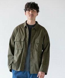 【SALE/65%OFF】coen ワークファティーグシャツ コーエン シャツ/ブラウス 長袖シャツ カーキ ネイビー