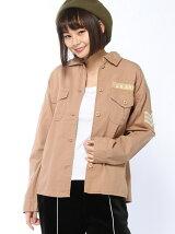 【WEGO】【BROWNY STANDARD】(L)ベーシックミリタリーシャツ