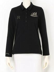 rienda suelta golf wear BASICエンブレムR L/Sポロシャツ リエンダスエルタゴルフウェア カットソー ポロシャツ ブラック ピンク ホワイト【送料無料】