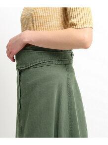 【洗える】ベルテッドAラインスカート