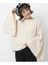 FLARE SLEEVE KNIT TO