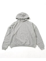 STRIPE SWEAT MEGA PARKA
