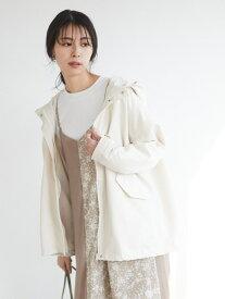 【SALE/20%OFF】Green Parks chocol raffine robe ショートマンパ グリーンパークス コート/ジャケット ノーカラージャケット ホワイト ベージュ カーキ ネイビー【送料無料】