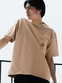 UNITED ARROWS green label relaxing 別注 [ チャムス ] CHUMS GLR ロゴ ポケット Tシャツ ポケT カットソー ユナイテッドアローズ グリーンレーベルリラクシング カットソー Tシャツ ベージュ ホワイト ブラック【送料無料】