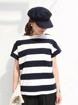 【大人気・復刻・新色追加】ワイドボーダーボートネックTシャツ