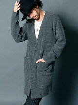 WOOL PILE LONG CARDIGAN