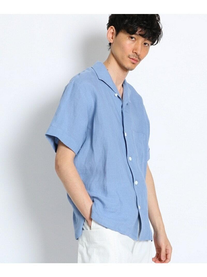【SALE/10%OFF】イタリアンカラーリネンシャツ [ メンズ シャツ 半袖 ] タケオキクチ シャツ/ブラウス【RBA_S】【RBA_E】【送料無料】