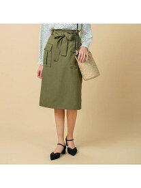 【SALE/29%OFF】grove 【WEB限定サイズあり】ワークポケットタイトスカート グローブ スカート スカートその他 カーキ ベージュ ネイビー